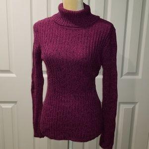 Turtleneck Sweater - Hot Pink